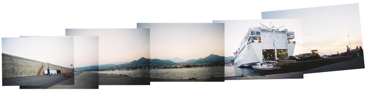 Carnet de voyage, car-ferry Corse à Ile Rousse