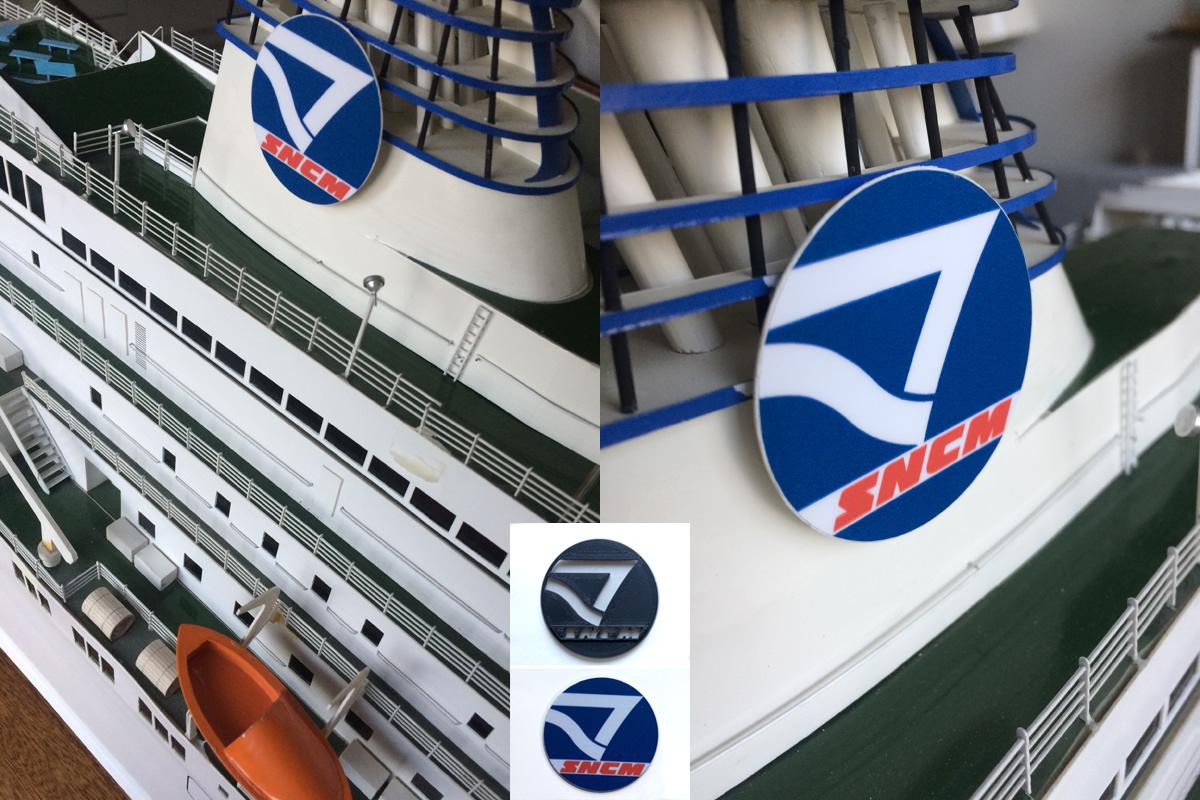 Logo SNCM sur le car-ferry Corse