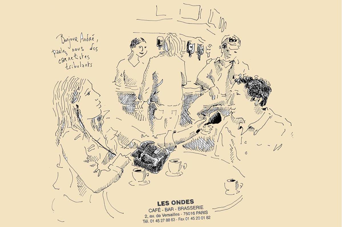 Interview au Café des Ondes à Paris